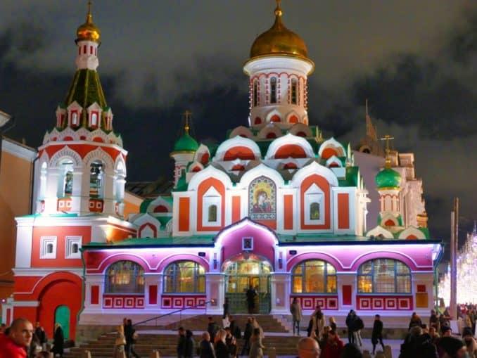 Kazan Cathedral bei Nacht