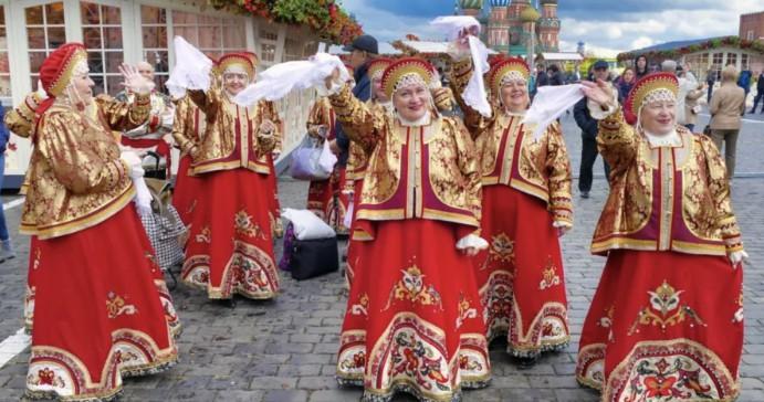 Russland Moskau Trachten