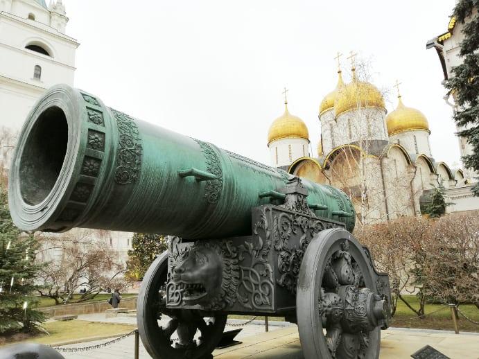 Zarenkanone im Kreml Moskau